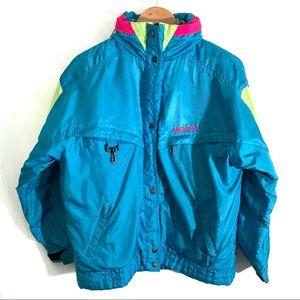Vintage Nevica Neon Winter Ski Jacket | Size 10